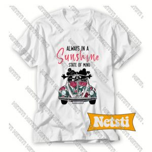 Always In A Sunshine State Of Mind Mickey And Minnie Chic Fashion T Shirt