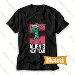 Dabbing Alien New Year Chic Fashion T Shirt