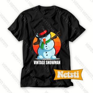 Vintage Snowman Chic Fashion T Shirt