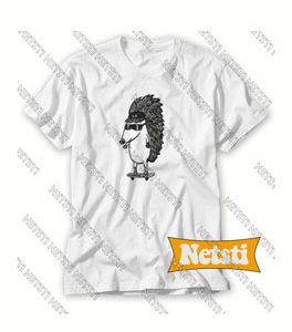 With Skater Hedgehog Chic Fashion T Shirt