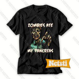 Zombies Ate My Pancreas Chic Fashion T Shirt