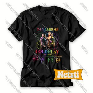 24 Years Of Coldplay 1996 2020 Chic Fashion T Shirt