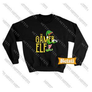 Gamer Elf Xmas Chic Fashion Sweatshirt
