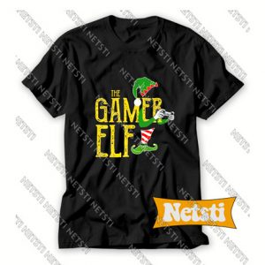 Gamer Elf Xmas Chic Fashion T Shirt
