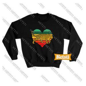 Leopard Heart Love Valentine Chic Fashion Sweatshirt