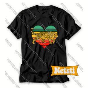 Leopard Heart Love Valentine Chic Fashion T Shirt