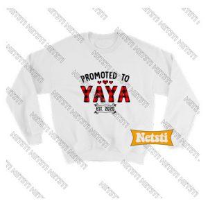 Promoted to Yaya 2020 Chic Fashion Sweatshirt