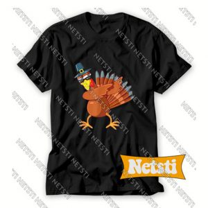 Dabbing Turkey Thanksgiving Day Chic Fashion T Shirt