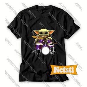 Official Baby Yoda Hug Drum Chic Fashion T Shirt