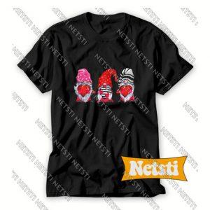 Three Gnomes Valentines Chic Fashion T Shirt