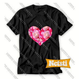 Heart Made From Roses Chic Fashion T Shirt