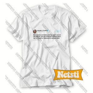 Trump IQ Tweet on Twitter Chic Fashion T Shirt