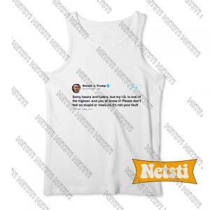 Trump IQ Tweet on Twitter Chic Fashion Tank Top